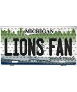 Lions Michigan State Background Metal License Plate Tag (Lions Fan) - $11.95
