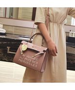 2018 New Women Casual Tote Bags Top Handle Pu Leather Simple Letter Desi... - $28.87