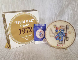 "Vintage 1972 Hummel 2nd Annual Plate ""Hear Ye, Hear Ye"" in Original Box - $13.50"
