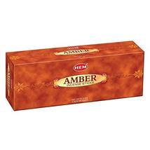ABN Fashion Hem Amber Sticks Incense Natural Fragrance Hand Rolled India... - $8.06