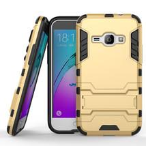 Hybrid Kickstand Protective Case for Samsung Galaxy J1 2016 / Amp 2 - Gold  - $4.99