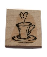 Rubber Wood Stamp Stamping Crafting Coffee Cocoa Tea Cup Mug Stampin Up - $9.89