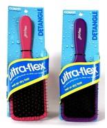 2 Ct Conair Ultra Flex Detangle Pink & Purple Wet Or Dry Hair Brush - $19.99