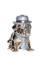 Interior Illusions Plus ii000345 Doggy Bank Rhinestone Hat, White - $92.16