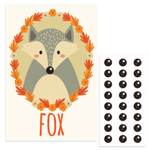 Forest Fox Pin The Nose Birthday Party Game - £16.17 GBP