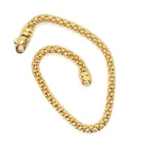 18K YELLOW GOLD BRACELET, 19 CM, 7.5 INCHES, BASKET WEAVE TUBE, 3 MM THICKNESS image 1