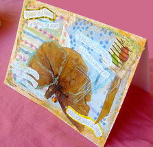 Romance Handmade Card For Bride Partner Companion, Love Marriage Poetry ... - $5.95