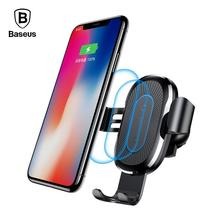 Baseus 10W QI Wireless Charger Car Holder For iPhone X 8 Plus Samsung S8... - $28.99