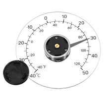 Outdoor Door And Window Thermometer Needle Metal Temperature Measuring I... - $13.40