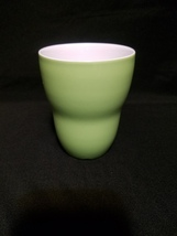 A Starbucks Light Green Aida Coffee Tea Cup No Handle 8oz 2008 Ceramic Mug - $14.99