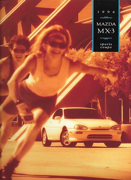 Primary image for 1994 Mazda MX-3 sales brochure catalog US 94 MX3 GS V6 2nd Edition