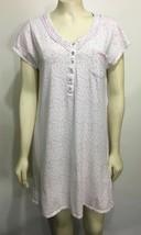 Eileen West Womens M Pink Floral Cotton Nightgown Nightie - $31.85