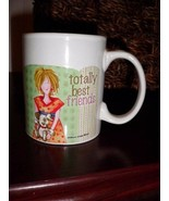"""Coffee Cups Mug New Totally Best Friends 3.75"""" Tall - $12.20"""