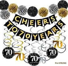 70th Birthday Party Supply Decorations Kit with Pre-Strung Banner - $15.93