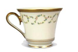 Lenox Amanda Ivory Teacup Bone China Floral Wreath Gold Trim 8 Oz - $14.84