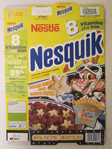 Empty Cereal Box NESQUIK 1999 NESTLE 375g From the UK GALACTIC DECODER [... - $14.44