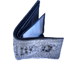 Ideal Handmade Lucky Point Blue Horn Back Genuine Crocodile Leather Men Wallet - $179.99