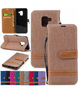 Samsung A21 S20 Note 20 A01 11 21 31 A41 Canvas Leather Magnetic Flip Ca... - $56.53