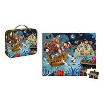 Janod 36 Piece Pirate Ship Treasure Hunt Puzzle Toy – Mini Suitcase Styled Box f image 2