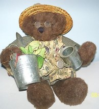 Teddy Bear Artist Rags A Muffin Lady Gardening Lady Jointed Details 1997... - $59.40