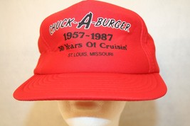 CHUCK-A-BURGER 1957-1987 30 yrs of Cruisin St Louis MO red trucker snapb... - $149.95