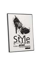 """Pingo World 0708QBS7UEG """"Style is a Way To Say Who You Are Fashion"""" Gall... - $43.51"""
