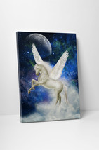 Pegasus in The Sky Children Kids Wall Art Gallery Wrapped Canvas Print - $44.50+