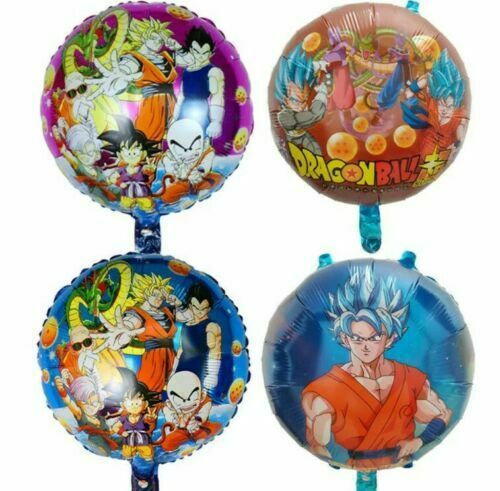 Primary image for Dragon Ball Party Balloon 4PCS Birthday Mylar Decoation Goku Sayain FAvors Treat