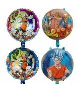 Dragon Ball Party Balloon 4PCS Birthday Mylar Decoation Goku Sayain FAvo... - $10.87