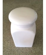 "White Ceramic Contemporary Cannister 7 1/2"" X 4"" - $5.90"