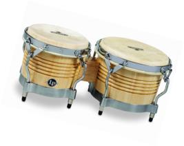 Latin Percussion M201-AWC LP Matador Wood Bongos - Natural/Chrome - $197.74