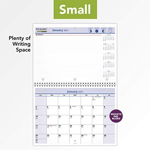 """2021 Wall & Desk Calendar by AT-A-GLANCE, 11"""" x 8"""", Small ..."""