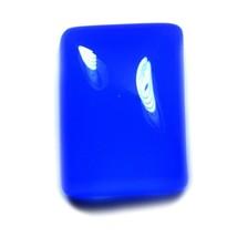 MM 14X10 Genuine Carnelian Blue Rectnagle Shape Cabochon Flatback Loose ... - $9.22