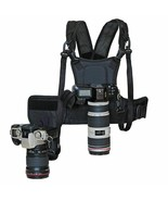 Carrier Dual 2 Camera Chest Carrying Harness Photographer Quick Strap Si... - $65.33