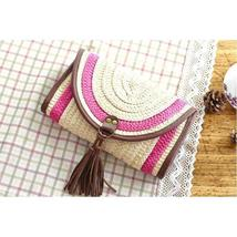 Vintage Straw Tassels Women Messenger Clutch Bags image 4