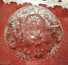"""EARLY AMERICAN PRECUT EAPG STAR OF DAVID GLASS SERVING BOWL 10 3/4"""" image 5"""