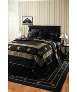 Burlap Star Black King Quilt Bedding - $285.99