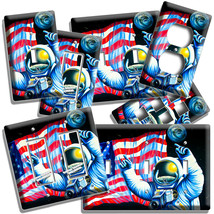 USA FLAG NASA ASTRONAUT APOLO MOON MISSION LIGHT SWITCH PLATES OUTLET HO... - $10.99+