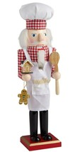 "New Wooden Christmas Nutcracker, 15"", ITALIAN FAT PASTRY CHEF, BAKER - $24.74"