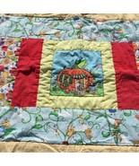 "Peter Peter Pumpkin Eater Quilt Handmade Crib Blanket Comforter 35"" x 43"" - $24.18"