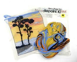 Deco Point Needlepoint Kit Vintage 1970s Sunset Trees Sailboat Lake -- S... - $13.95