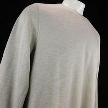 Orvis Men White Gray Striped Long Sleeve T Shirt Sz L - $22.99