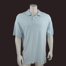 Izod Mens Polo Shirt 2 Button Collar Seafoam Chest Logo XL Silkwash - $27.71