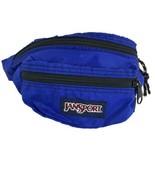 Vintage 90's JanSport Blue Nylon Fanny Pack Hip Waist Bum Bag USA - $20.57