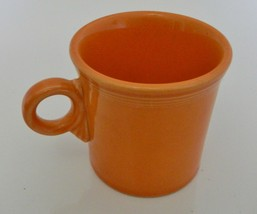 Fiesta Tangerine Orange Coffee Mug Cup Retired Fiestaware Ring Handle - $12.75