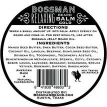 Bossman Relaxing Beard Balm - Nourish, Thicken and Strengthen Your Beard Gold image 2