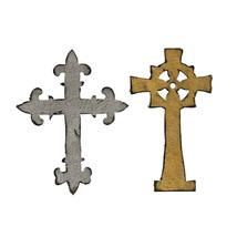 Tim Holtz Alterations Mini Ornate Crosses Dies - Scrapbooking - Mini Albums