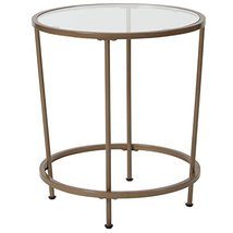 Flash Furniture Astoria Collection Glass End Table with Matte Gold Frame - $52.93