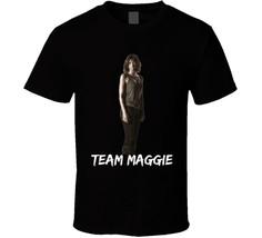 Team Maggie Walking Dead T Shirt  Novelty Lauren Cohan Fashion Glam Tee Gift New - $17.79+