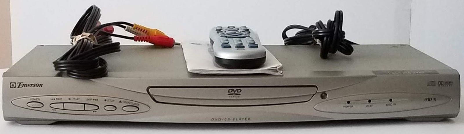 Emerson EWD7004 Dolby Digital DVD/CD MP3 Player with Cables Universal Remote - $38.69